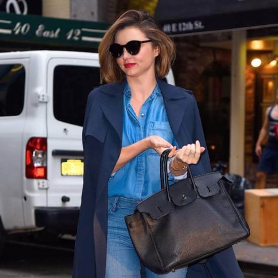 Miranda Kerr Wearing Denim on Denim May 2016