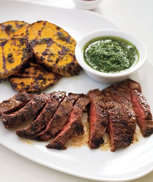 Grilled Skirt Steak With Herb Sauce Recipe