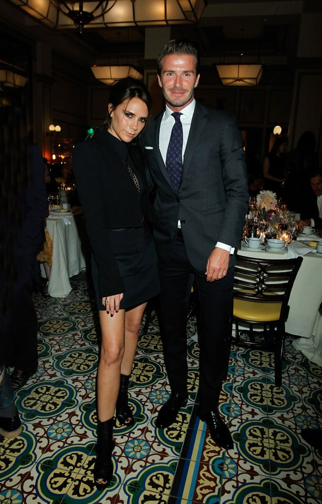 David and Victoria Beckham dressed up to celebrate the 2012 CFDA/Vogue Fashion Fund finalists in LA in October.