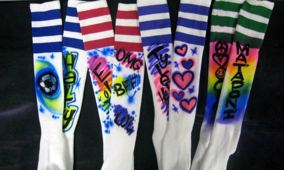 Airbrushed Soccer Socks