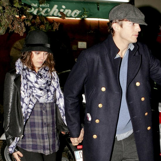Ashton Kutcher and Mila Kunis on a Dinner Date in Rome