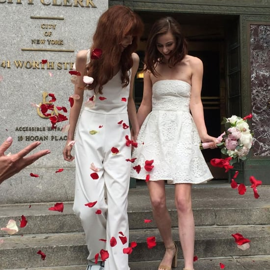 "This Model's City Hall Nuptials Might Change Your Mind About the ""Perfect"" Wedding"