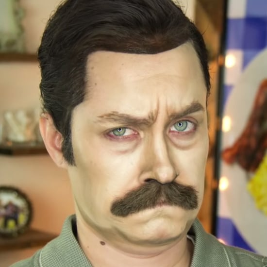 Ron Swanson Makeup Tutorial