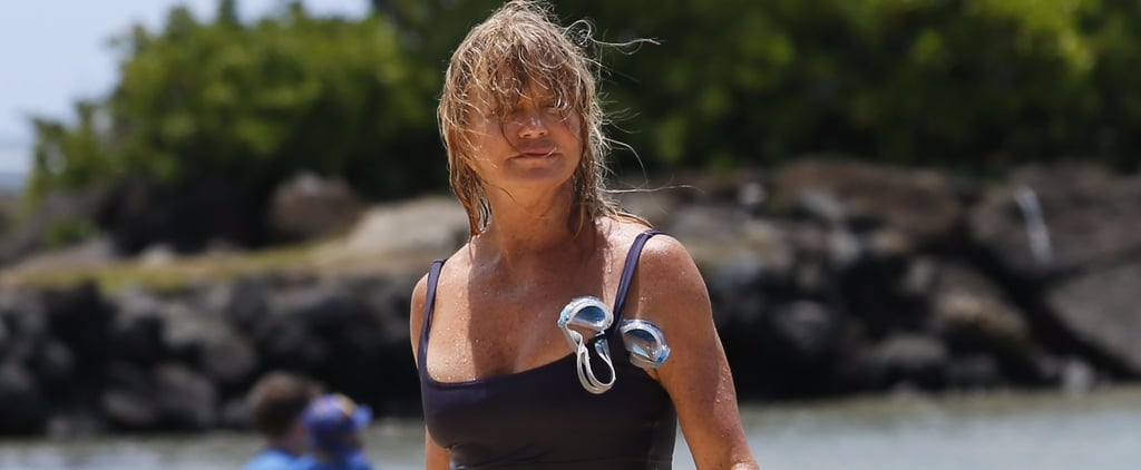 Goldie Hawn Looks Sun-Kissed and Carefree While Hitting the Beach in Hawaii