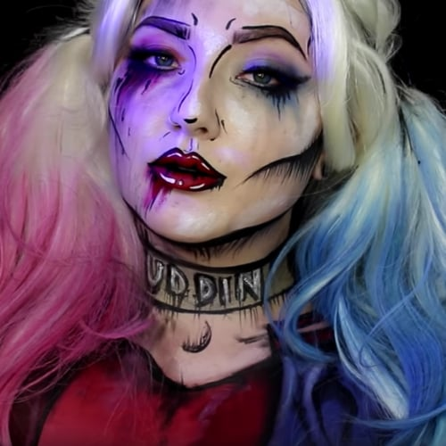 Harley Quinn YouTube Makeup DIY