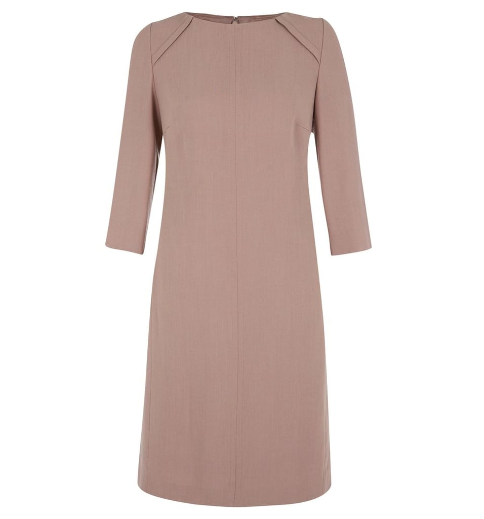 For appointments and engagements requiring something more demure, we love this powder-pink Hobbs dress ($210).