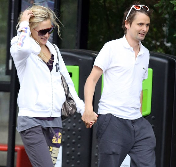 Kate Hudson laughed with Matthew Bellamy in London.