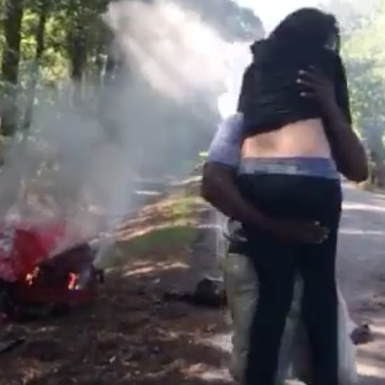 Pregnant Woman Saved From Burning Car