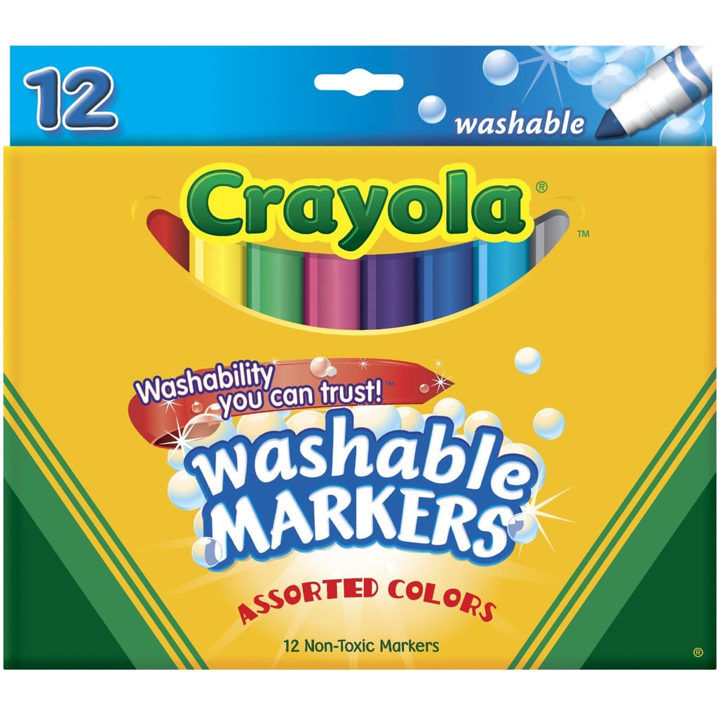 12-Pack Washable Markers ($8)