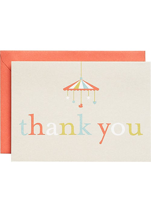 Paper Source Oh Baby Thank You Notes