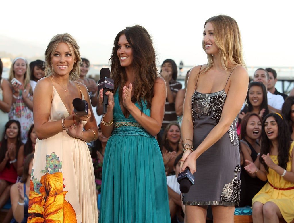 Lauren Conrad had Audrina Patridge and Whitney Port by her side at the August 2008 premiere party for The Hills in Malibu, CA.