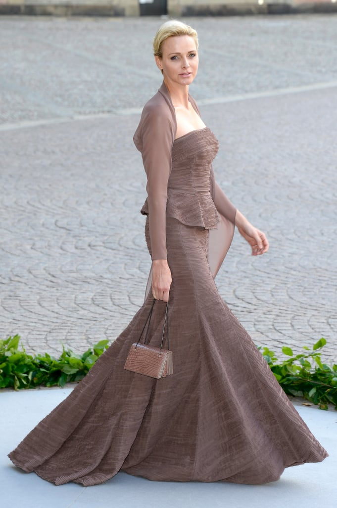 Princess Charlene of Monaco wore a glamorous gown to Princess Madeleine of Sweden and Christopher O'Neill's wedding.