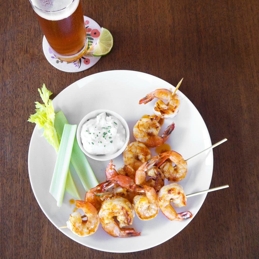 Grilled Buffalo Shrimp Skewers