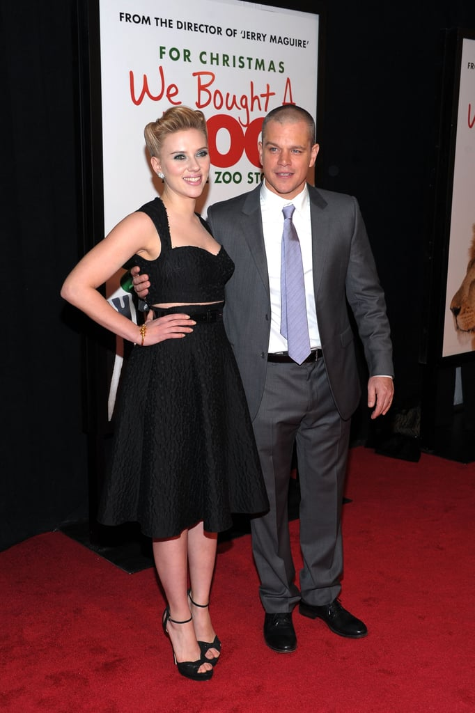 Matt Damon and Scarlett Johansson were arm-in-arm at the We Bought a Zoo premiere in NYC.