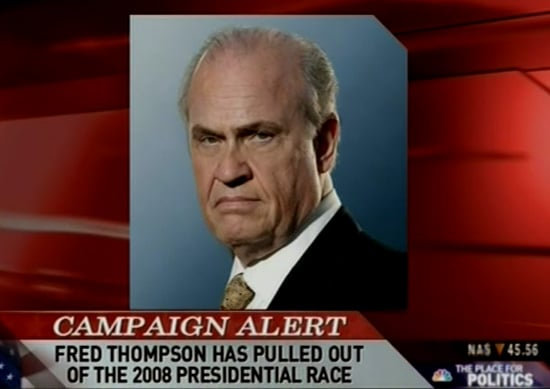Headline: Fred Thompson Drops Out of Race