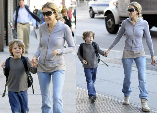 Pictures of Sarah Jessica Parker and James Wilkie Walking to School in NYC 2010-06-08 16:00:00