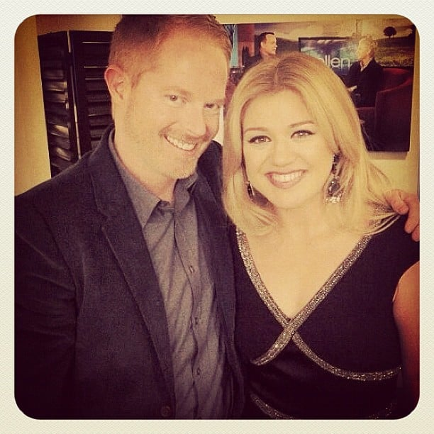 Jesse Tyler Ferguson ran into Kelly Clarkson. Source: Instagram user jessetyler