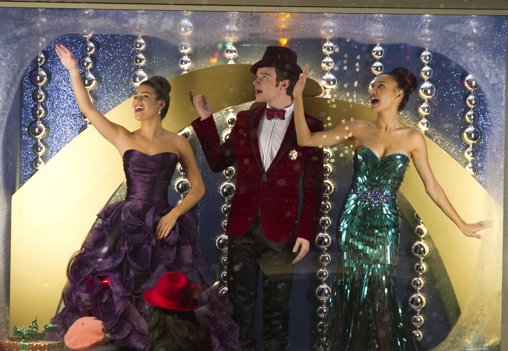 The gang appears in a window display in the show's Fall finale.