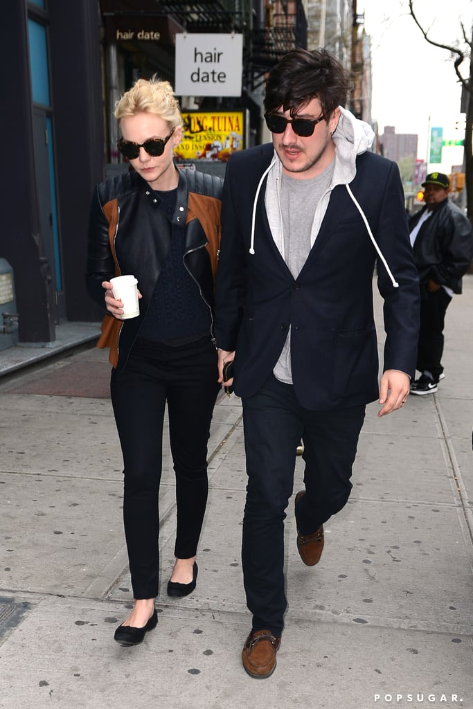 Carey Mulligan and Marcus Mumford held hands in NYC.