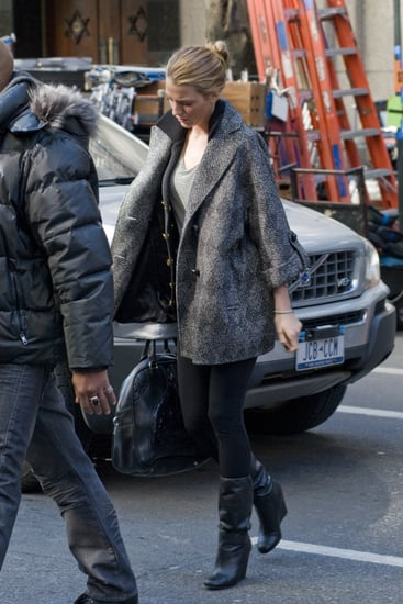Pictures of Blake Lively on Set of Gossip Girl as She is Confirmed as Face of Chanel