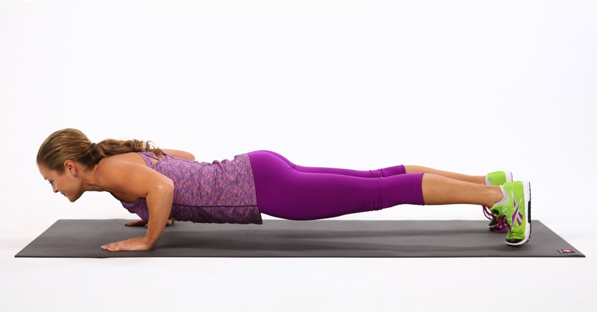 30 day push up challenge popsugar fitness. Black Bedroom Furniture Sets. Home Design Ideas