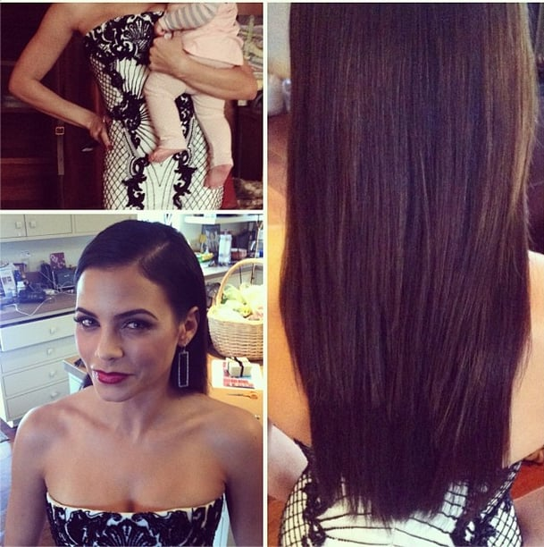 Hairstylist Jen Atkins highlighted Jenna Dewan's long and strong locks. We'd love to steal Jenna's look (and her hubby, too!). Source: Instagram user jenatkinhair