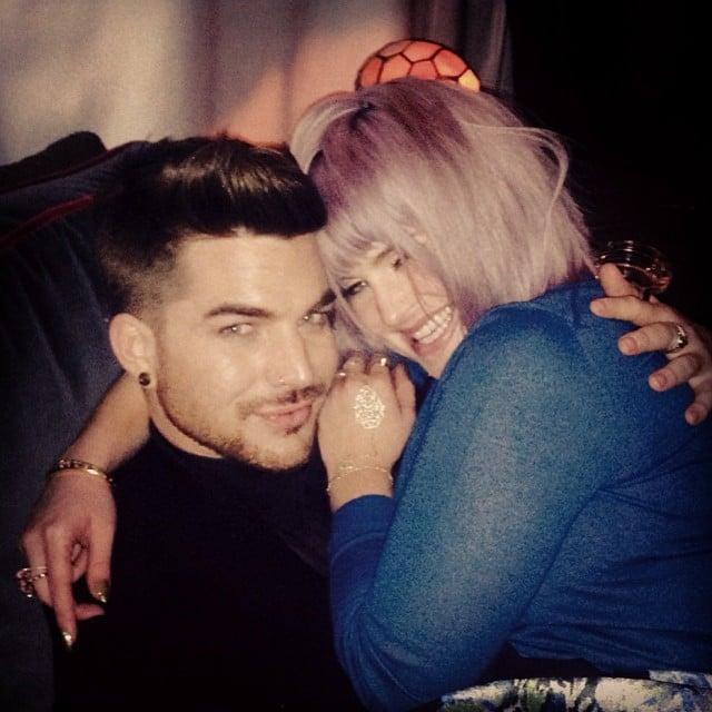 Kelly Osbourne cozied up to Adam Lambert. Source: Instagram user adamlambert