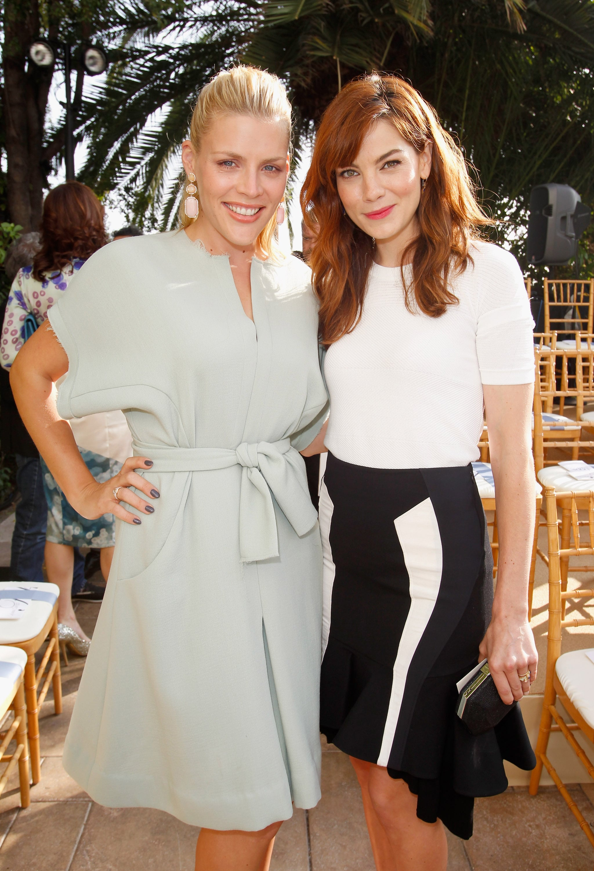 Busy Philipps and Michelle Monaghan at a Vogue party in LA.