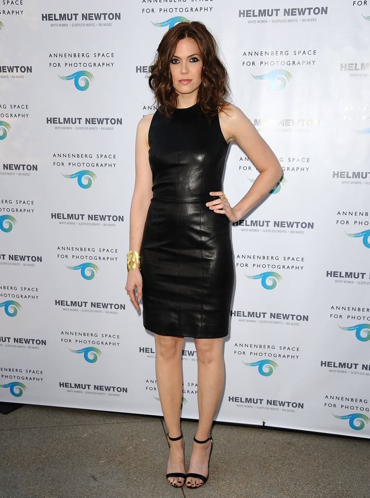 Mandy Moore didn't hold back at a photography exhibit opening in LA. The actress turned heads in a hot black, leather minidress.