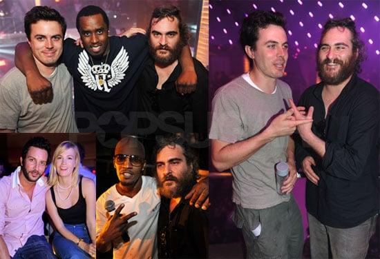 Photos of Casey Affleck, Joaquin Phoenix, Diddy, January Jones, Jamie Foxx in Miami Beach