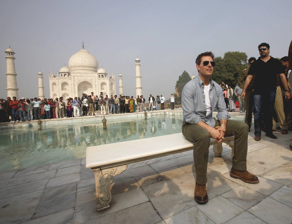 Tom Cruise at the Taj Mahal.