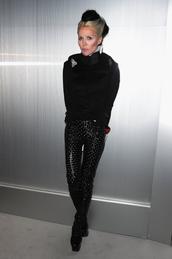 Daphne Guinness checked out the Chanel show.