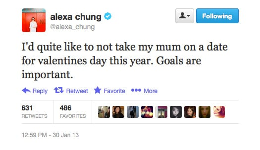Don't say Alexa Chung isn't a high achiever.