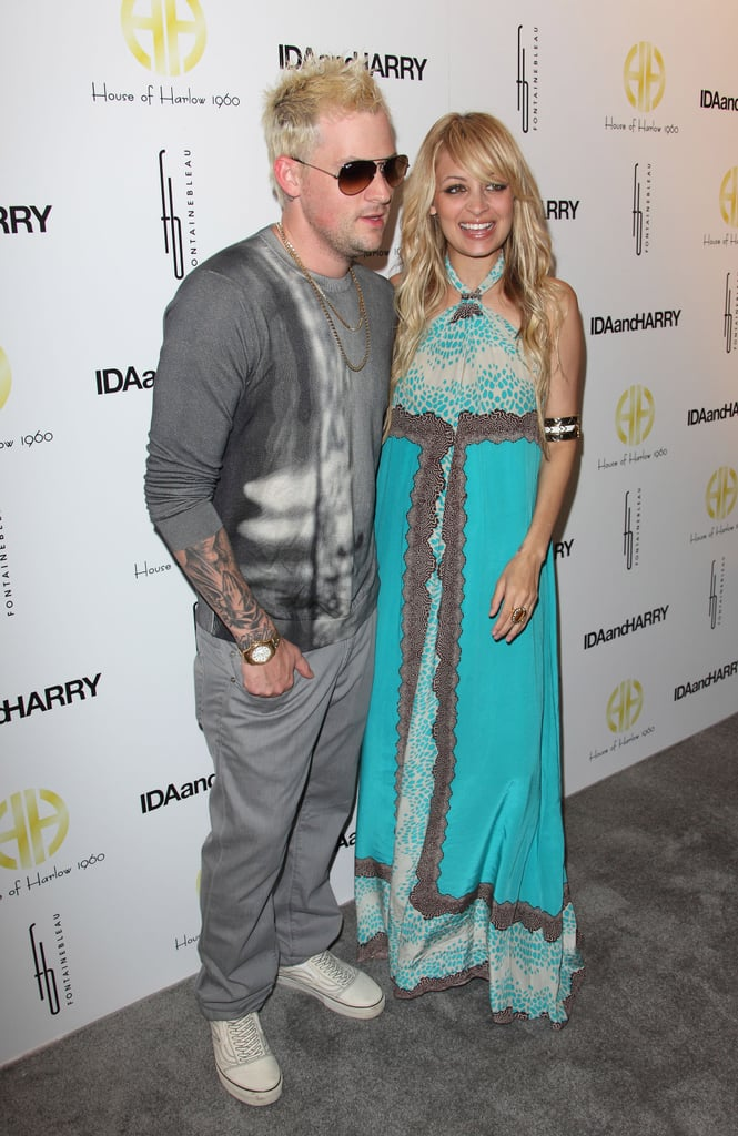 Nicole Richie had Joel Madden's support at the Miami Beach launch of House of Harlow 1960 in May 2009.