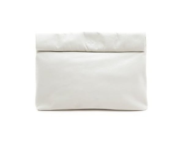The slouchy shape makes this Marie Turnor Lunch Clutch ($223) superchic — the white finish makes it even chicer.