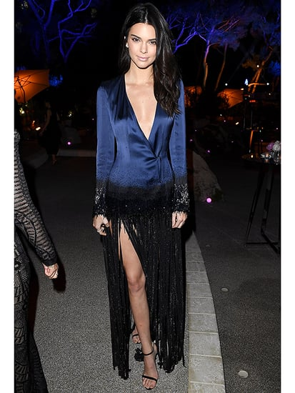 Kendall Jenner Updates the Flapper Look at Cannes in a Fringed Blazer Dress