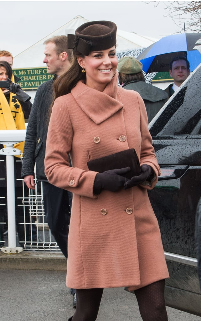 Kate Middleton attended the Cheltenham Festival with husband Prince William in England.