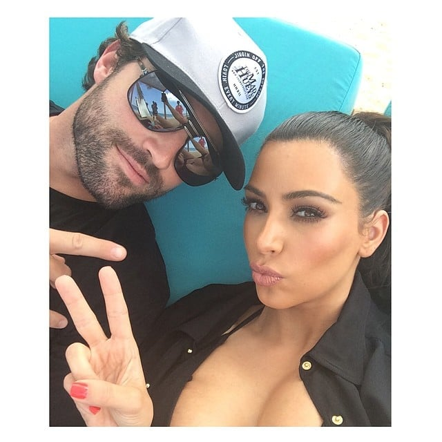 Kim and Brody had bonding time. Source: Instagram user kimkardashian