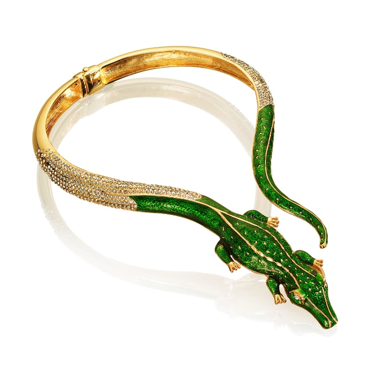 Editors' Pick: Feeling a bit quirky? You've found your match in this alligator-adorned choker. Recalling the Lanvin snake-infused dress Emma Stone wore earlier this year, we think this kind of costume jewelry will set off even the most basic of outfits.