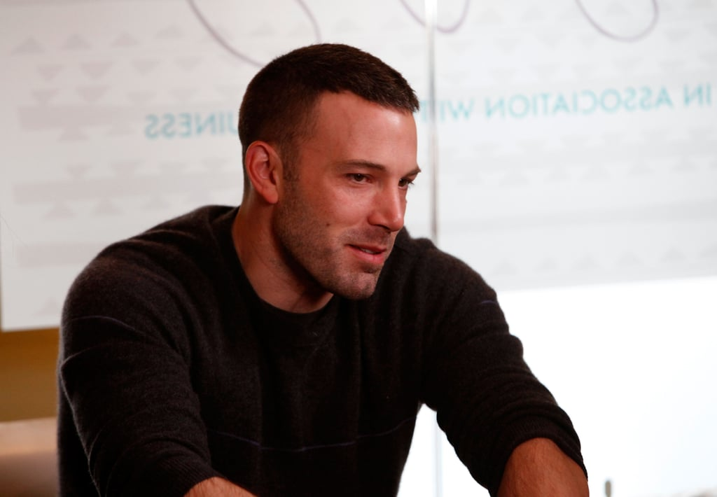 Ben Affleck addressed an audience of fans and movie buffs at the January 2010 Sundance Film Festival in Park City, Utah.