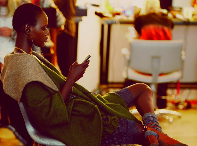 Ajak Deng photographed by Anna Palma.  Photo courtesy of Free People