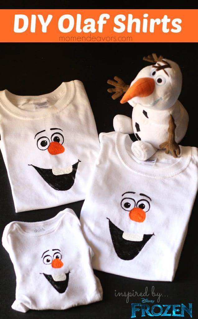 DIY Olaf Shirts