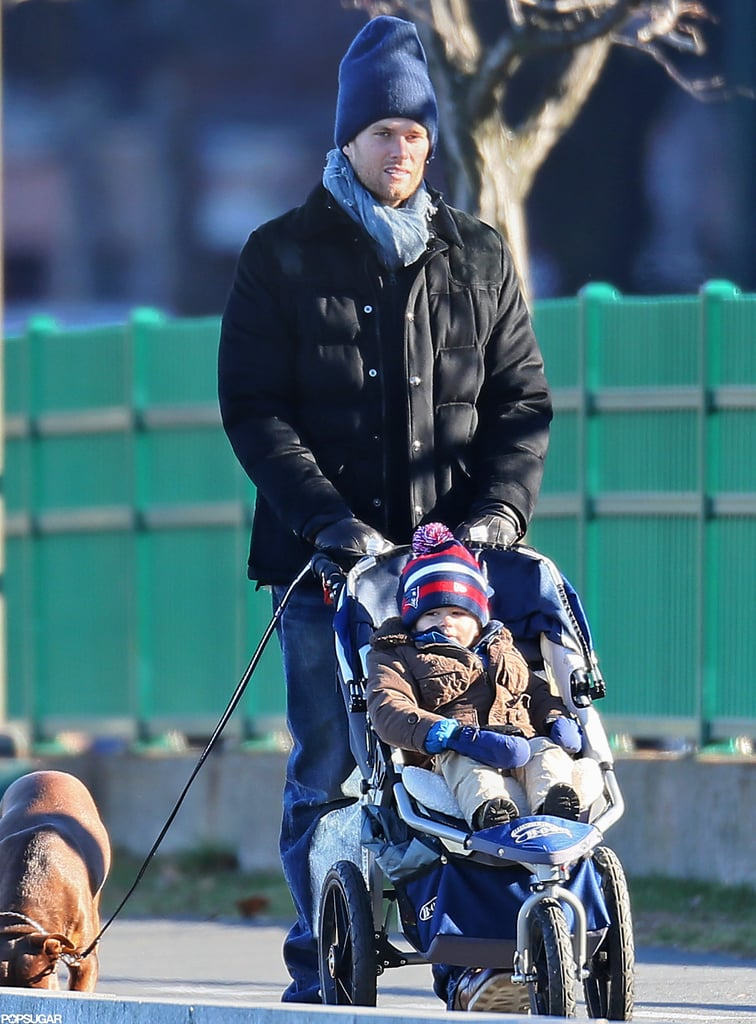 Tom and Benjamin Brady Spend Their Weekend at Home with Gisele and Vivian