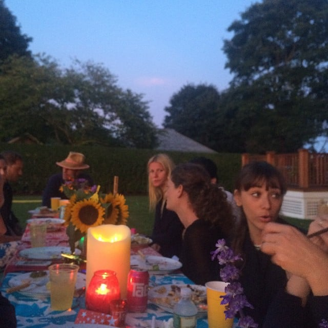 The gang gathered for an outdoor dinner party earlier this Summer.