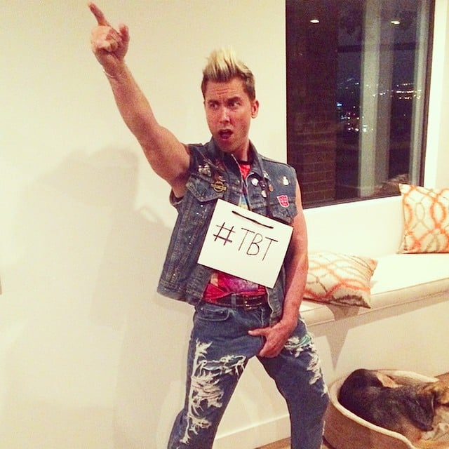 In 2014, Lance Bass was a hilarious throwback version of himself in *NSYNC.