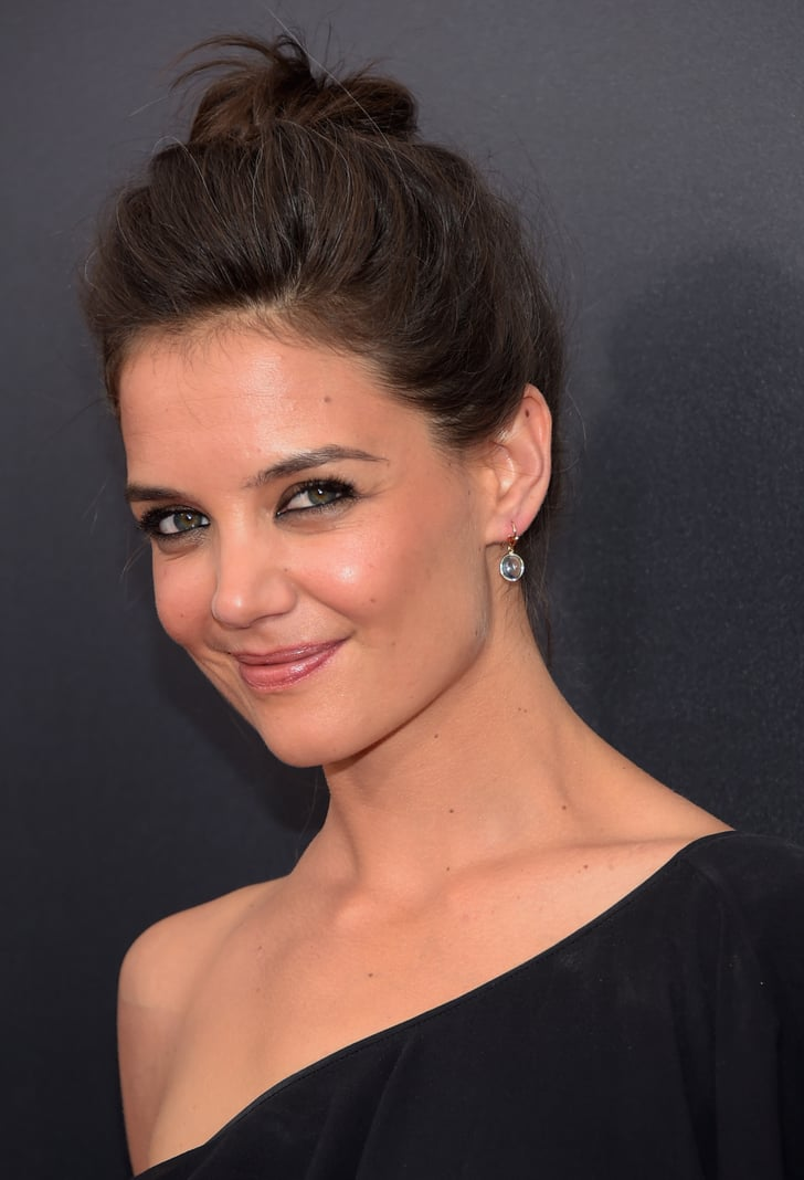 Katie Holmes Hits the Red Carpet With Black Eyeliner and Gray Hair