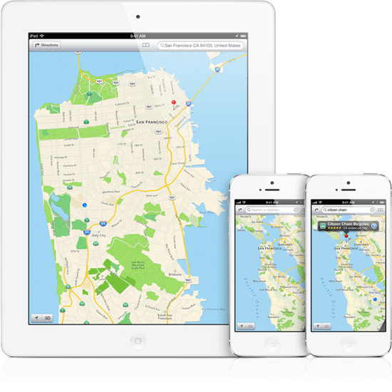 Maps on iPhone
