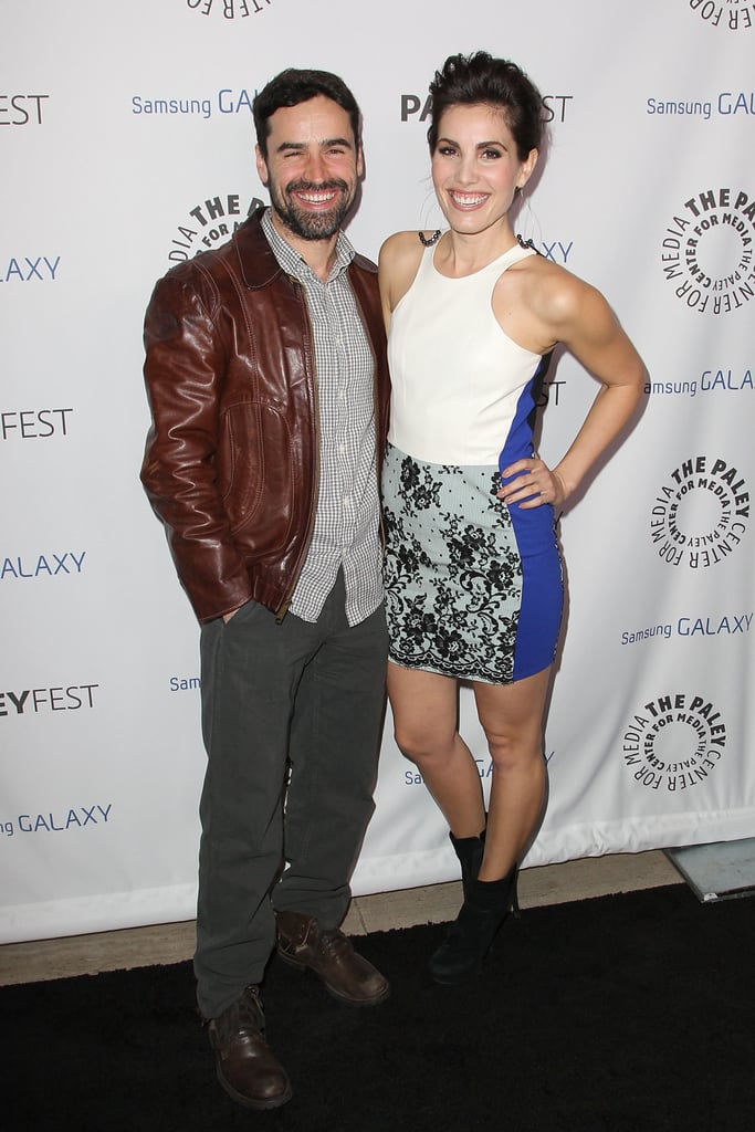 Carly Pope and Jesse Bradford posed together on the red carpet.