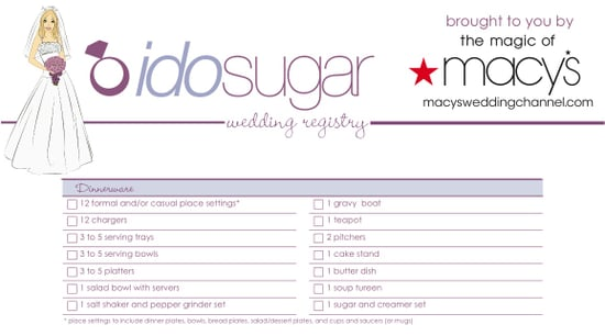 Sugar Shout Out: Download Our Wedding Registry Checklist