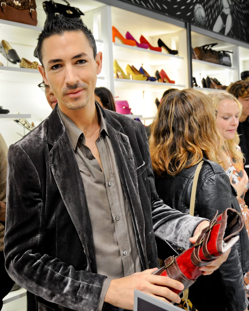 Christian holding his favorite pair from the collection.